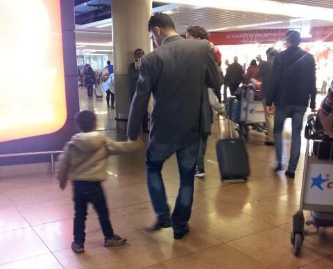 Adnan with his son